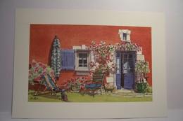 ART & NATURE  - PROVENCE  - Aquarelle Christophe  Botton -  N°9 - La  Vieille Auberge - Illustratoren & Fotografen