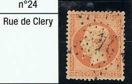 N°23 Etoile 24 Très Belle Frappe Très Beau Timbre - 1862 Napoléon III