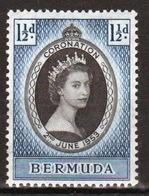Bermuda 1953 Elizabeth II Coronation Stamp. - Bermuda