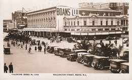 Australie 1934 - Wellington Street, Perth, West Australia - Valentine Publishing ( Shop Boans LTD, Braham Bros Dentists. - Perth