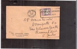 CEYLON COLOMBO 1957 TO INDIA ADVERTISEMENT CANCELLATION COVER - Ceylon (...-1947)