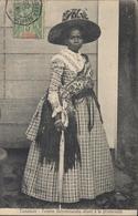 YT Groupe 42A Madagascar 5ct CAD Maritime La Réunion à Marseille 1. LU N°3 1908 CPA Tamatave Femme Betsimisaraka - Madagascar (1889-1960)
