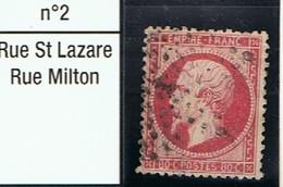 N°24 Etoile 2 Frappe Correcte Beau Timbre - 1862 Napoléon III