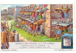 "S1229- CHROMO LIEBIG - 1929 -  "" FORMATIONS DE COMBAT "" : 2. LA TORTUE ROMAINE - Liebig"