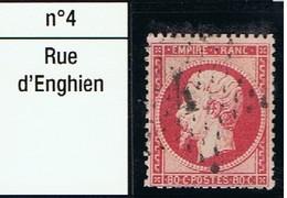 N°24 Etoile 4 Très Belle Frappe Très Beau Timbre - 1862 Napoléon III
