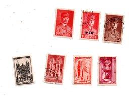 Un Petit Lot De Timbres Anciens - Pétain -villes -voir Scan Pour état - 1900-27 Merson