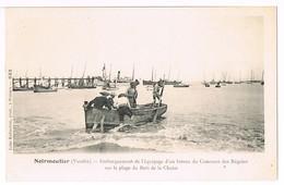 (D85) NOIRMOUTIER Embarquement De L'équipage ... 2 SCANS(Excellent ETAT) . PAYPALsans Frais. - Noirmoutier