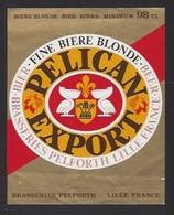 Etiquette De Bière De Blonde -  Pélican  -  Brasserie  Pelforth à Lille   (59) - Beer