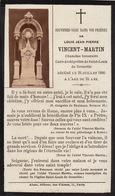 Faire Part Louis Vincent Martin Curé Archipr^tre De Saint Louis à Grenoble - Obituary Notices