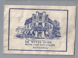 Suikerzakje.- ROTHEM. DE WITTE HOEK. HOTEL CAFÉ RESTAURANT. Sugar Bag. Embalage De Sucre. Zucchero. Zucker - Suiker