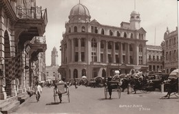 Malaisie- Singapore 1934 Raffles Place (rikshaw) - Malaysia