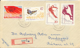 Romania Registered Cover Sent To Hungary Arad 9-8-1961?? - Covers & Documents