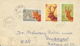 Romania Registered Cover Sent To Hungary Arad 18-10-1961 - 1948-.... Republics