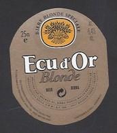 Etiquette De Bière Blonde -  Ecu D'Or -  GBM  à  Roubaix   (59) - Beer