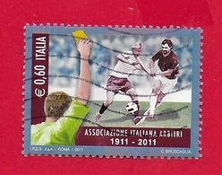 ITALIA REPUBBLICA USATO - 2011 - Centenario Dell'associazione Italiana Arbitri -  € 0,60 - S. 3250 - 2011-...: Usados