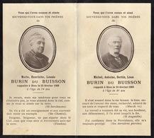 Double Faire Part De Souvenir Burin Du Buisson  Photographie - Esquela
