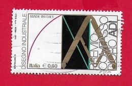 ITALIA REPUBBLICA USATO - 2011 - Made In Italy - Disegno Industriale - ADI Compasso D'Oro -  € 0,60 - S. 3255 - 6. 1946-.. Republic
