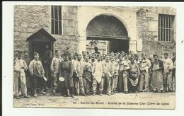 39 - Jura - Salins Les Bains - Entrée De La Caserne - Beau Plan   - Animée - - Altri Comuni