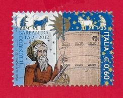ITALIA REPUBBLICA USATO 2012 - 250º Anniversario Della Prima Edizione Del Lunario Barbanera - € 0,60 - S. 3314 - 6. 1946-.. Republic