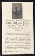 Faire Part Grimaux Née Marie Therèse Perrin 1909 - Obituary Notices