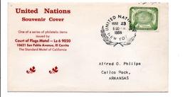 NATIONS UNIES LETTRE SOUVENIR 1959 - New-York - Siège De L'ONU
