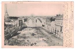 PARIS - INCENDIE DU BAZAR DE LA CHARITÉ Avec VUE SUR LES DÉCOMBRES CATASTROPHE (CP CIRCULÉE 1903) - France