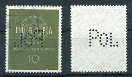 Deutschland Michel-Nr. 320 POL Lochung Gestempelt - Lochung Seitenverkehrt!!! - [7] Federal Republic