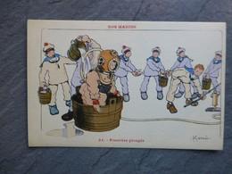 Illustrateur Gervèse, Nos Marins N°33 Scaphandrier Ref 898 ; CP01 - Gervese, H.