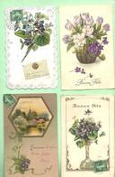 """Lot 12 CPA  """"Fleurs Violettes"""" Voir Scans - Fleurs"""