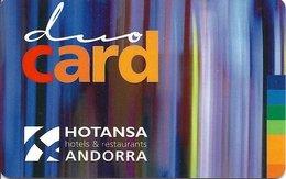 ANDORRA KEY HOTEL   Duo Card - Hotansa - Hotelkarten
