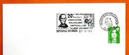76 SOTTEVILLE LES ROUEN   ALBERT DECARIS 1993 Lettre Entière N° BC 759 - Poststempel (Briefe)
