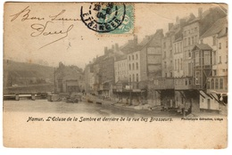 NAMUR (1904) - L'Ecluse De La Sambre Et Derrière De La Rue Des Brasseurs - Dos Non Divisé - Namur