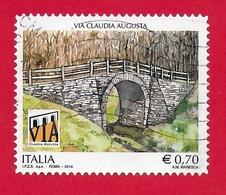 ITALIA REPUBBLICA USATO - 2014 - Patrimonio Artistico E Culturale Italiano - Via Claudia Augusta -  € 0,70 - S. 3474 - 2011-...: Afgestempeld