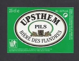Etiquette De Bière Des Flandres    -  Upsthem -   GBM à  Roubaix   (59) - Beer