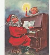 PHOTO De Père Noël Jouant Du Piano   -  025 - Père-Noël
