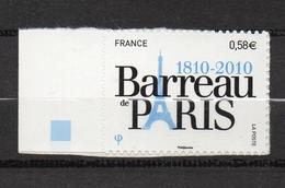 Timbres France N° 504 Neuf ** Barreau De Paris Bord De Feuille - Francia