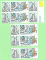4487  --  SLOVAQUIE - 2002  N°383** (5x)  Neufs - Slovakia