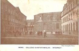 CPA - Belgique - Mons - Collége Saint-Stanislas - Internat - Mons