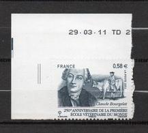 Timbres France N° 564 Neuf ** Claude Bourgelat Bord De Feuille - Frankreich