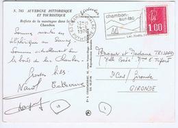PUY De DÔME - Flamme Illustrée à Droite CHAMBON SUR LAC Du 14 - 8  1976 - Marcophilie (Lettres)