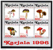 KARELIA KARJALA CARELIE 1996, CHAMPIGNONS A / MUSHROOMS, FANTAISIE / CINDERELLA, 6 Valeurs, Neufs / Mint. R935 - Vignettes De Fantaisie