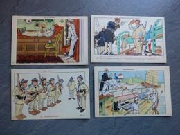Illustrateur Gervèse, Nos Marins Lot De 4 CP N° 12, 52, 33, 97, Ref 885 ; CP01 - Gervese, H.