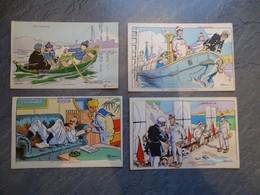 Illustrateur Gervèse, Nos Marins Lot De 4 CP N°77, 78, 76, 29, Ref 880 ; CP01 - Gervese, H.