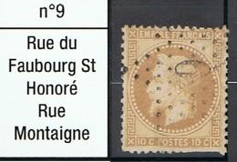 N°28 Etoile 9 Frappe Lisible Mais Timbre Coupé - 1862 Napoléon III