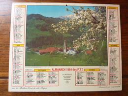Calendrier, Almanach Des P.T.T. 1984 - Manigod Au Prtntemps (Haute Savoie) - Les Alpes En été - Autres