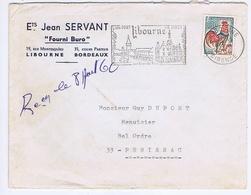 GIRONDE - Flamme Illustrée à Gauche LIBOURNE Du 6 - 8  1966 - Marcophilie (Lettres)