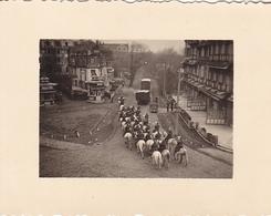 PHOTO ORIGINALE 39 / 45 WW2 WEHRMACHT BELGIQUE BRUGES A AUDENARD PARADE DES SOLDATS ALLEMAND - Guerre, Militaire