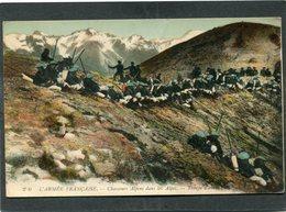CPA - L'ARMEE FRANCAISE - Chasseurs Alpins Dans Les Alpes - Troupe D'avant-garde - Regiments