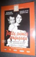 "Carte Postale ""Cart'Com"" (2003) - Petits Crimes Conjugaux (Bernard Giraudeau - Charlotte Rampling) Théâtres Edouard VII - Theatre"