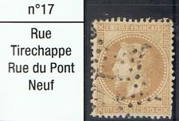 N°28 Etoile 17 Frappe Lisible Timbre Correct - 1862 Napoléon III